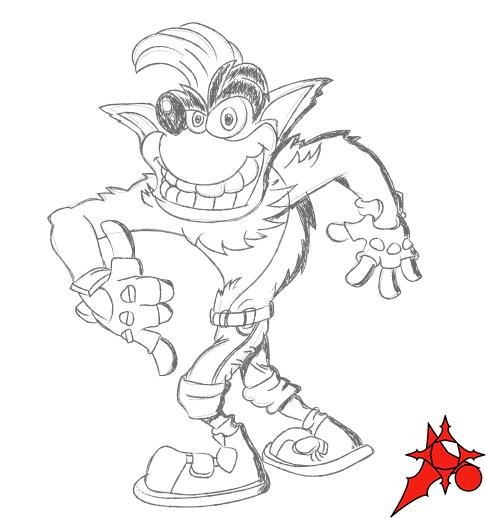 Crash Bandicoot Coloring Pages Origin Of