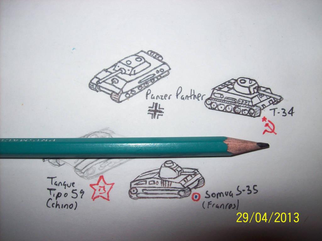 Tanks miniature by atisuto17 on DeviantArt