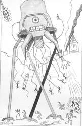 H. G. Wells geometric mind by atisuto17