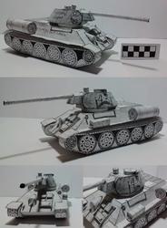 Papercraft T-34 76 by atisuto17