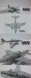 Me-262 Papercraft by atisuto17