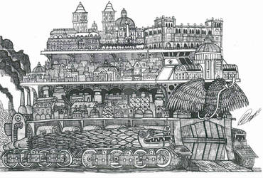 Mortal Engines - Mexico Traction City by The-Robur
