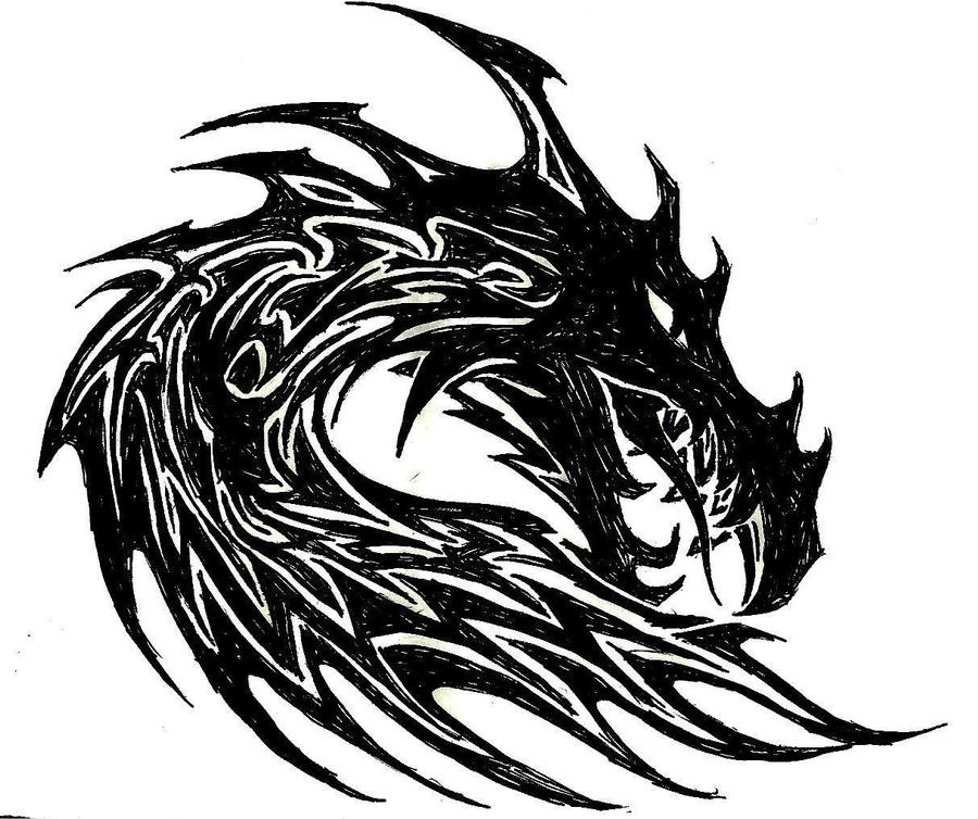 Chinese Dragon Head And Tail Template PictureTribal Dragon Head Designs