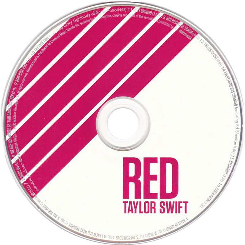 Taylor Swift Red CD by Belu0506 on deviantART