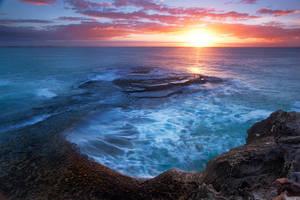 Sunrise rock by Dreampixphotography