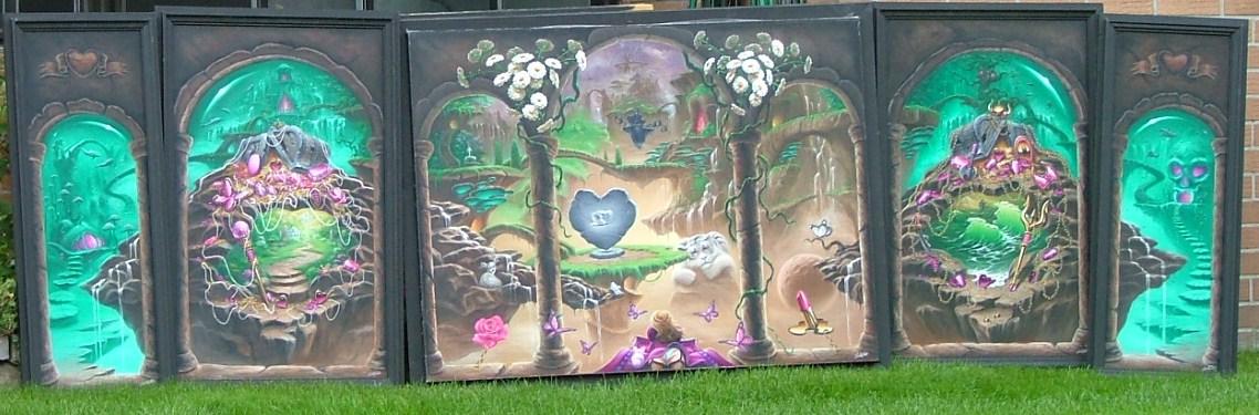My Imaginary World : five panels by ChristopherPollari
