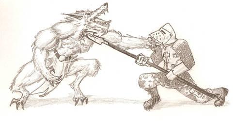 Radical Templar VS Werewolf by Halcenion