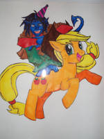 Nightcrawler and Applejack