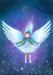Angel Floats with Stars