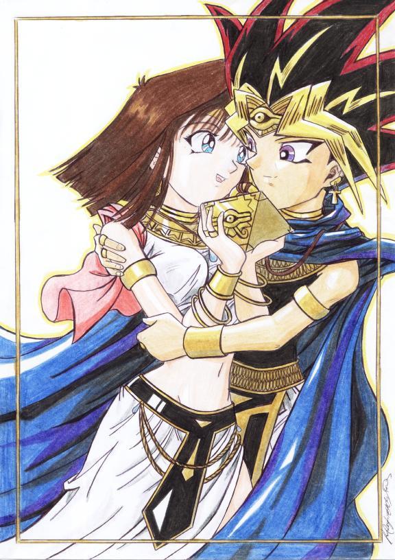 Atem and Anzu by MajinLu