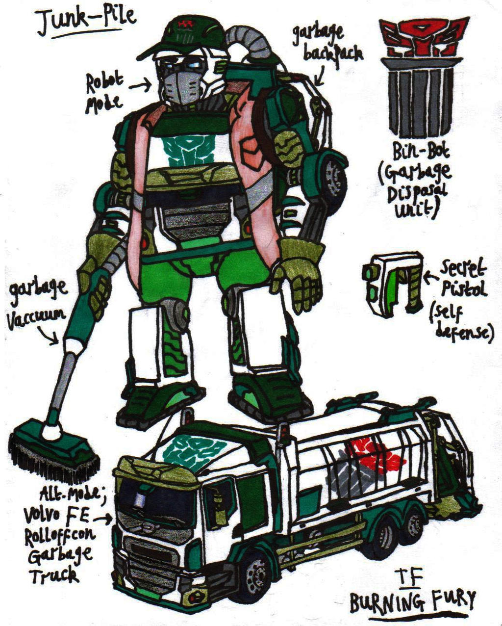 Transformers Burning Fury Junk Pile By Krytenmarkgen 0