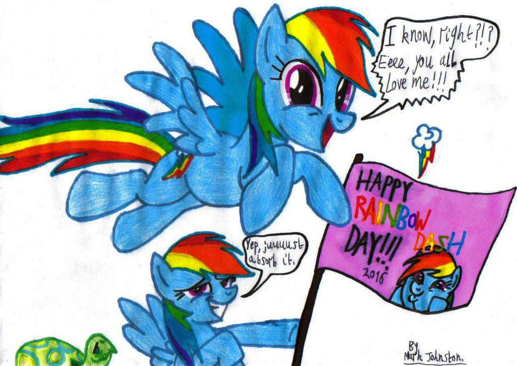Happy Rainbow Dash Day! [2016] by KrytenMarkGen-0