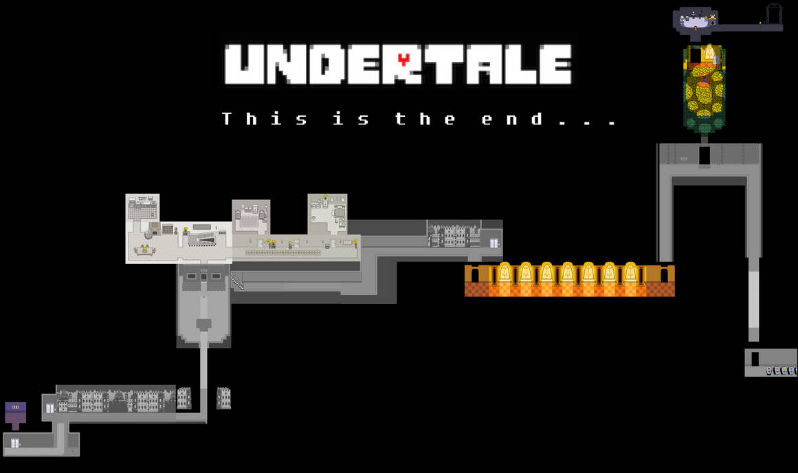 Undertale Complete Map - The End by Papikari on DeviantArt