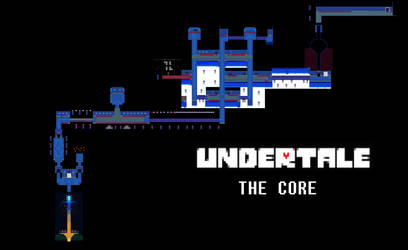 Undertale Complete Map - The Core by Papikari