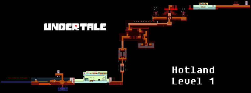 Undertale Complete Map - Hotland Level 1
