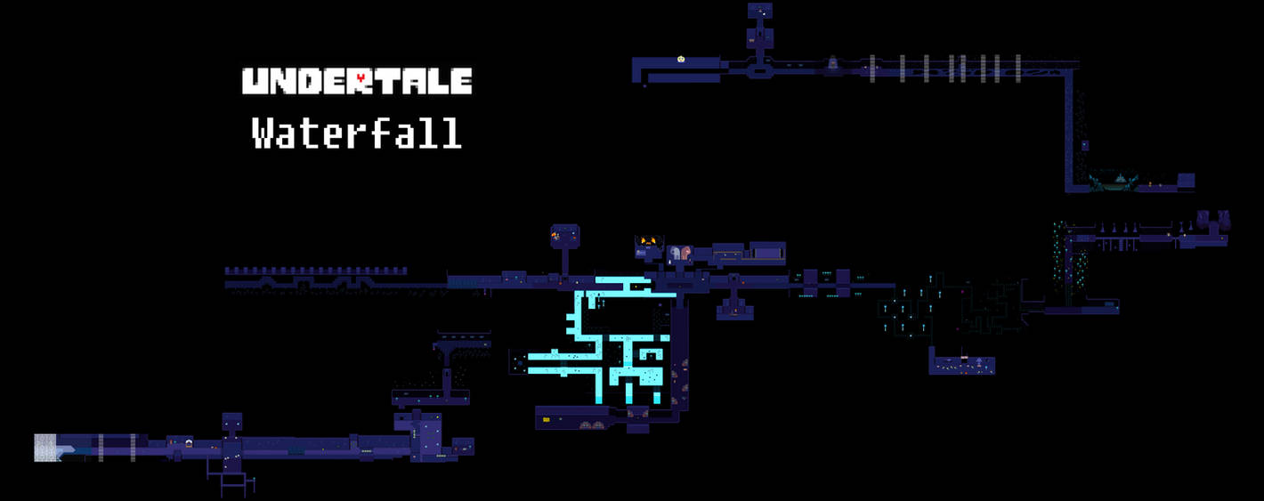 Undertale Complete Map - Waterfall by Papikari on DeviantArt