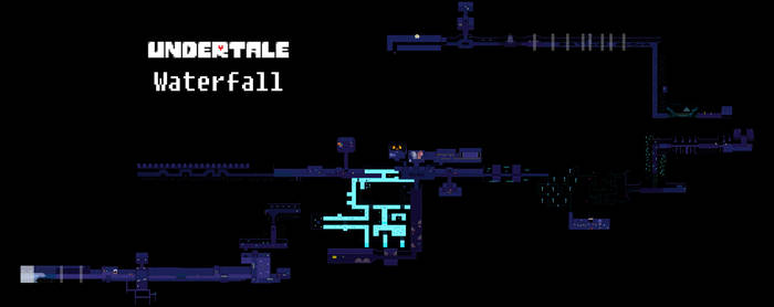 Undertale Complete Map - Waterfall by Papikari