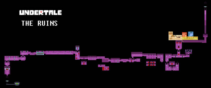 Undertale Complete Map - The Ruins