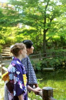 Lakeside Stroll in Yukata