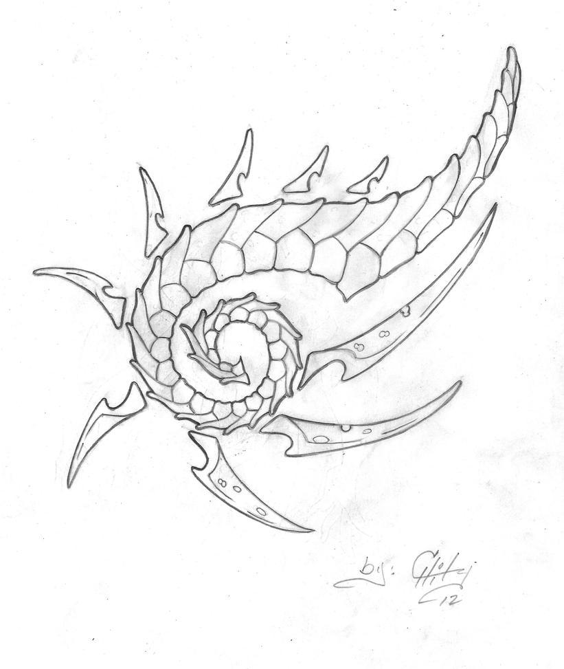 Lizard Sun Tattoo by Darkchaser