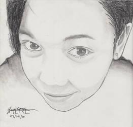 Portrait Pencil #15 by Herleos