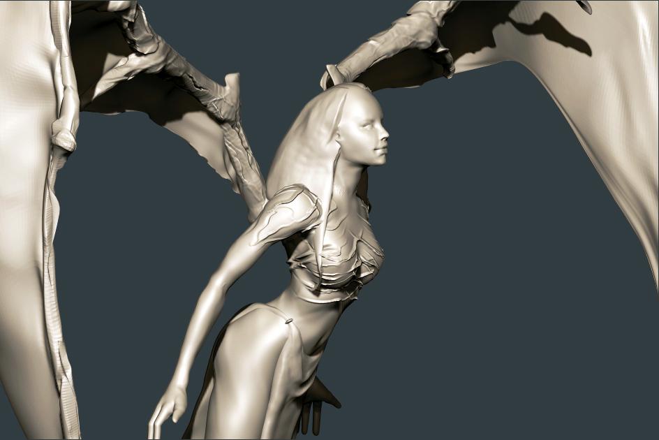 Woman demon by lilitharten