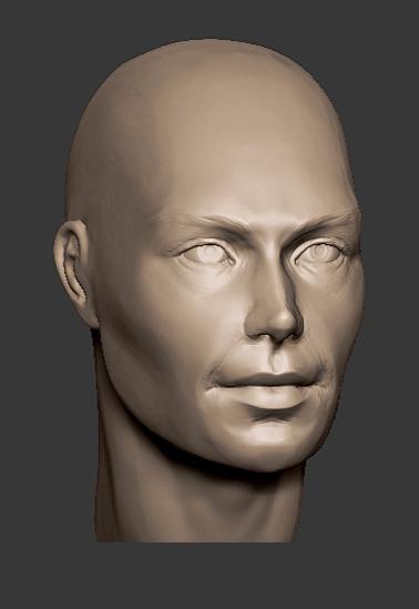 Man head practice by lilitharten