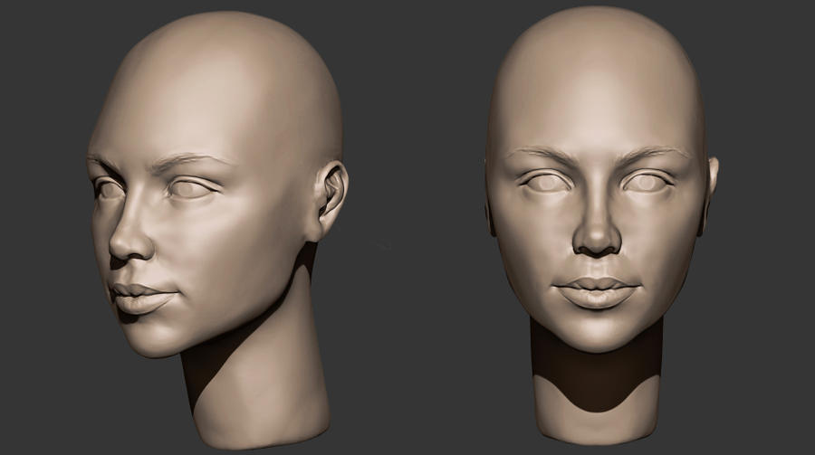 Woman head sculpt by lilitharten