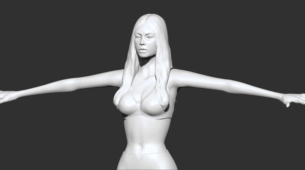 Woman high poly by lilitharten