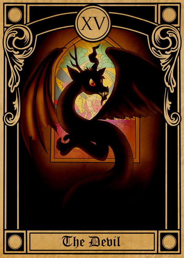 Pony Tarot Cards: Discord the Devil by SouthParkTaoist
