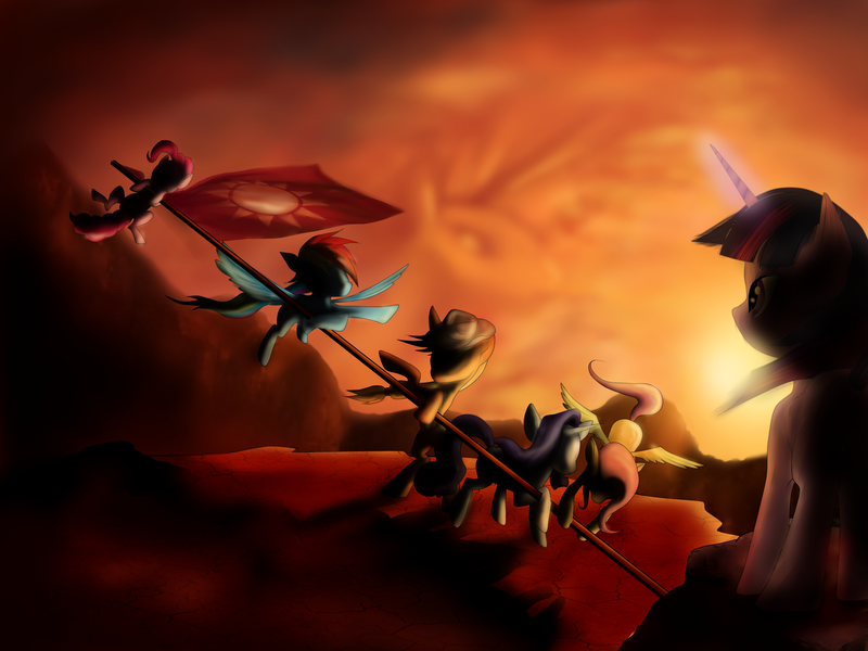 Flag Raising Over Equestria by SouthParkTaoist