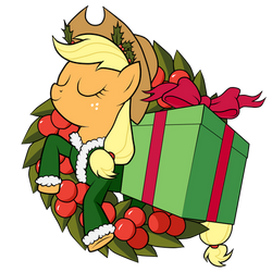 Applejack of Xmas Present by SouthParkTaoist