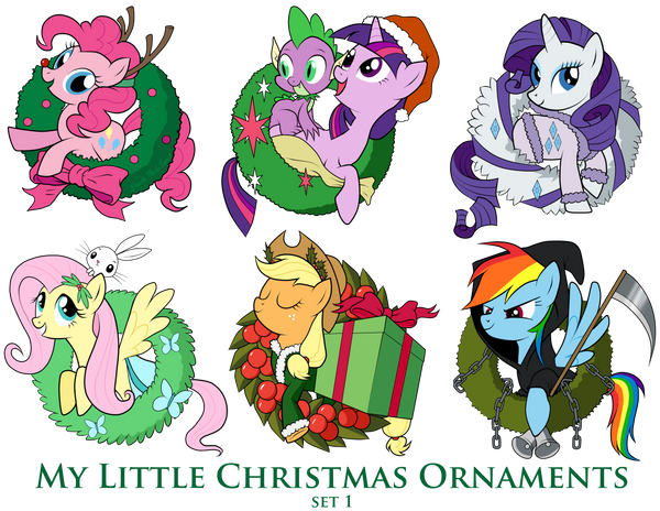 My Little Pony Christmas.My Little Pony Christmas Ornaments Set 1 Download By