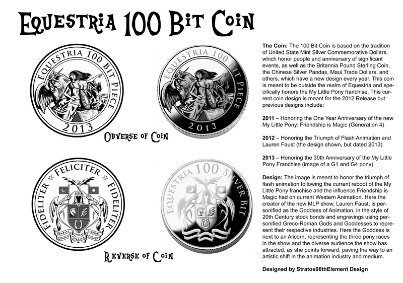 Equestria 100 Bit Coin Design by SouthParkTaoist