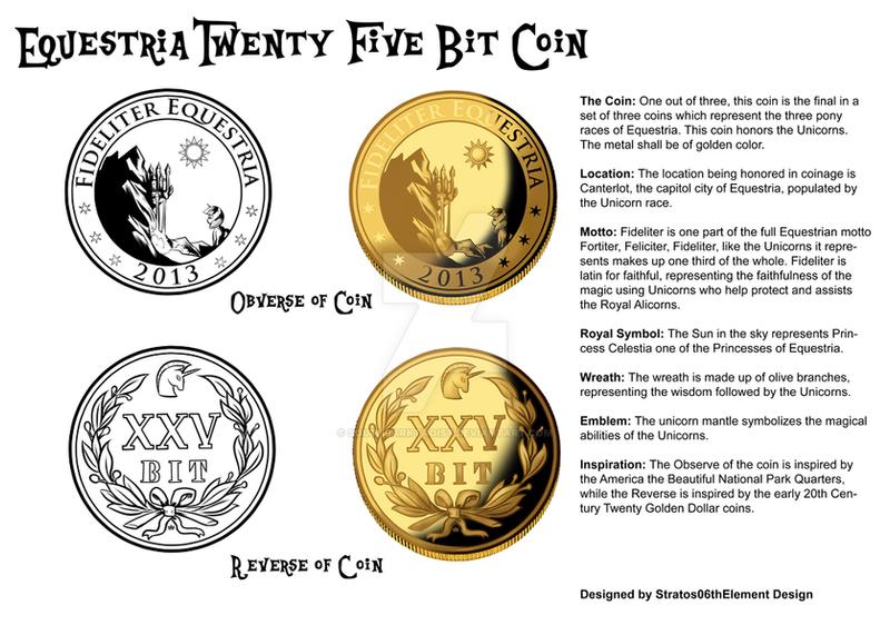 Equestria Twenty Five Bit Coin by SouthParkTaoist