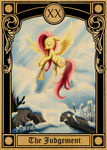 Pony Tarot Cards: Fluttershy as the Judgment