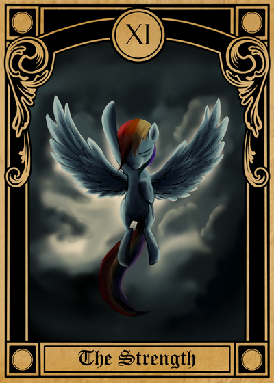 Pony Tarot Cards: Rainbow Dash as the Strength by SouthParkTaoist