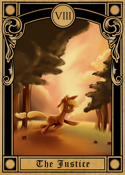 Pony Tarot Cards - Applejack at the Justice by SouthParkTaoist