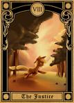 Pony Tarot Cards - Applejack at the Justice