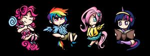 My Little Pony Humanized Chibi Keychains