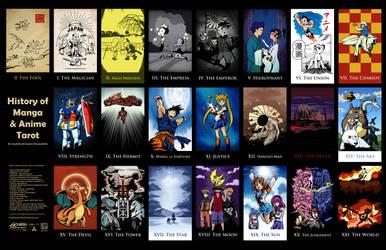 History of Japanese Anime Major Arcana Tarot by SouthParkTaoist