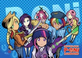 P-ONi Equestria Girls Rock Band by SouthParkTaoist