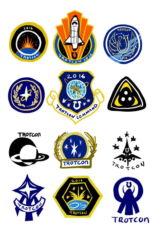 TrotCon Space Badge Concept Art - 3 by SouthParkTaoist