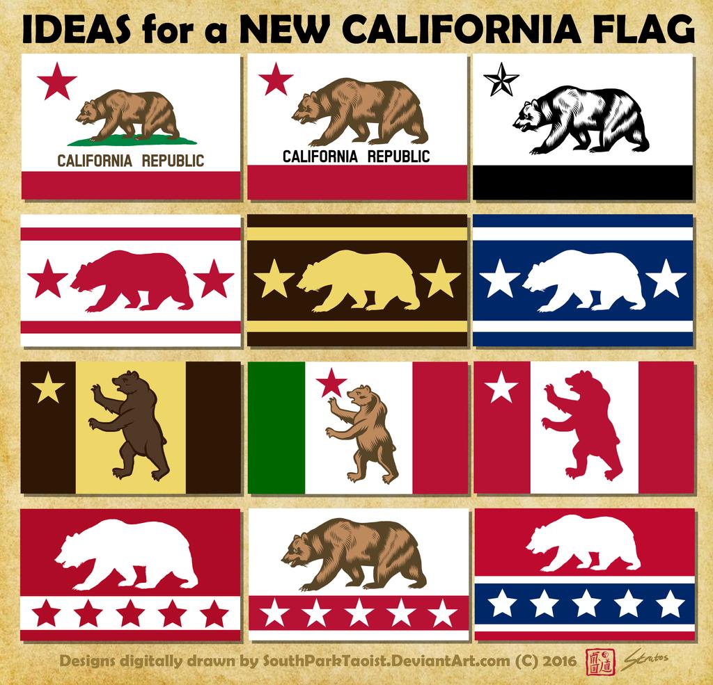 New california flag designs by southparktaoist on deviantart for Designers art of california
