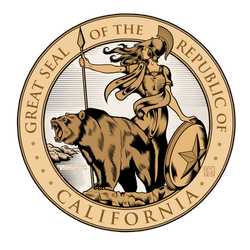 Great Seal of the Republic of California (Colored)