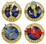 Disney Zodiac Pin Series - Rough Concept Sketches