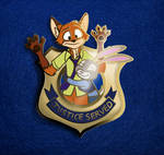 Zootopia Nick and Judy Pin (Rough Concept)