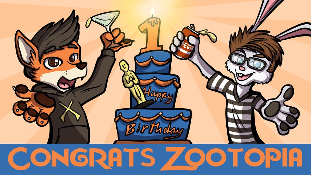Happy Birthday and Oscar Win Zootopia by SouthParkTaoist