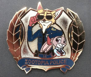 Zootopia Police Enamel Pin