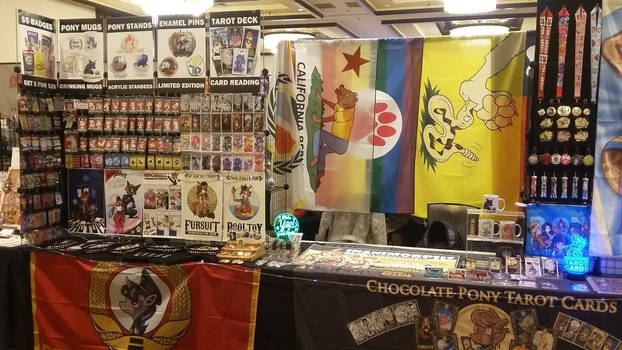 Booth at Texas Furry Fiesta 2018